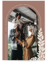 This is a brown thanksgiving cards invitation by Erin Deegan called Thanksgiving Arch with standard printing on recycled smooth signature in standard.