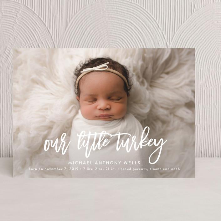"""Little Turkey"" - Thanksgiving Cards in Powder by Jennifer Postorino."