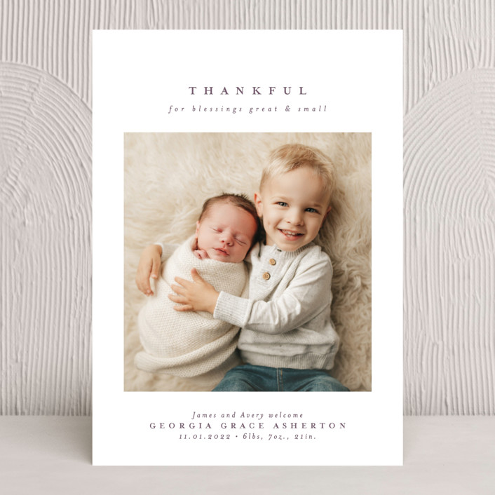 """Great and small"" - Thanksgiving Cards in Lavender by Lea Delaveris."