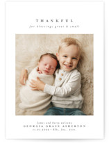This is a grey thanksgiving cards invitation by Lea Delaveris called Great and small with standard printing on smooth signature in standard.