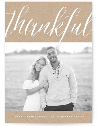 Calligraph Thanksgiving Cards