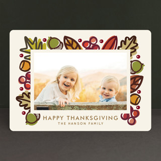 Autumn Frame Thanksgiving Cards