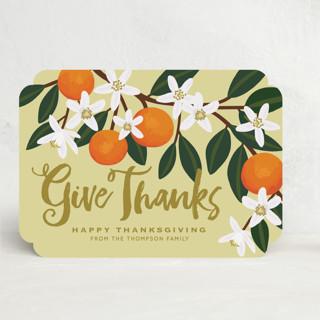 Orange Blossoms Thanksgiving Cards