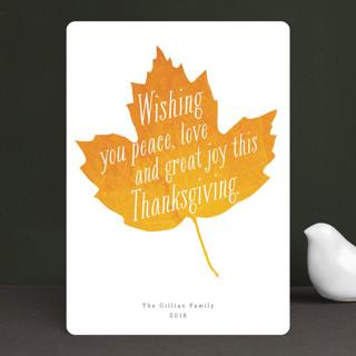 Autumn Leaf Thanksgiving Cards
