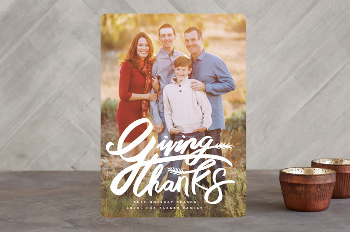 """""""Giving Thanks Wheat"""" - Thanksgiving Cards in White Light by Shiny Penny Studio."""
