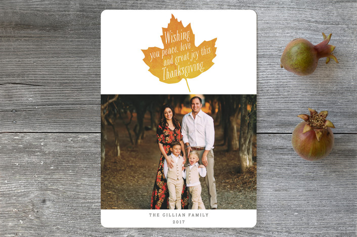 """""""Fall Foliage"""" - Simple Thanksgiving Cards in Pumpkin by Jennifer Lew."""