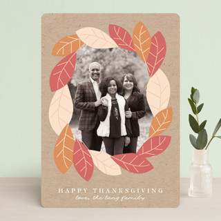 Fall Forest Frame Thanksgiving Cards