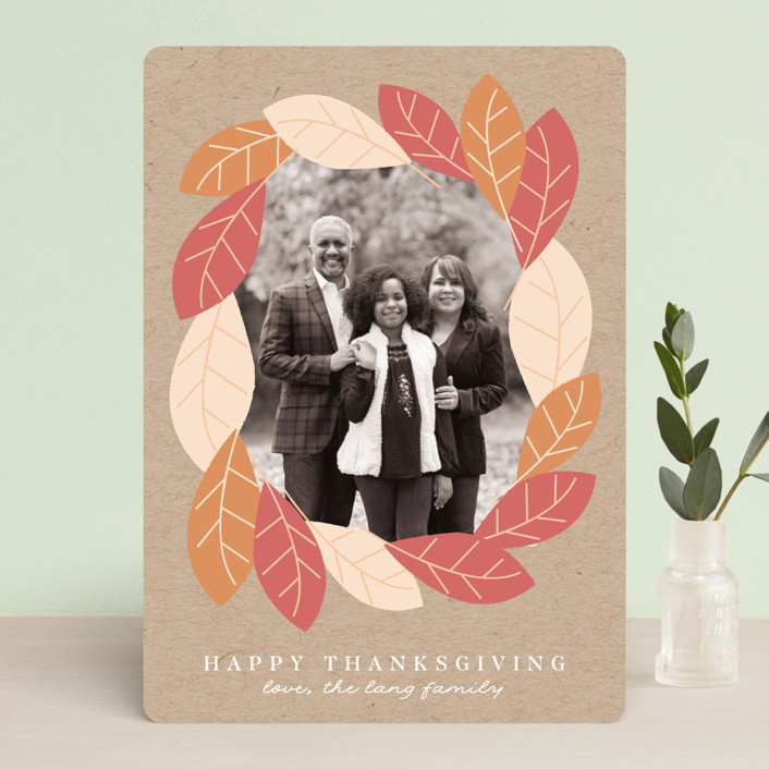 """Fall Forest Frame"" - Thanksgiving Cards in Kraft by Angela Thompson."