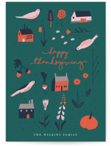 This is a green thanksgiving cards invitation by Eve Schultz called Fall Harvest with standard printing on signature in standard.