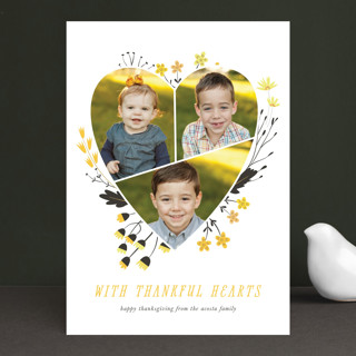 Floral Heart Thanksgiving Cards