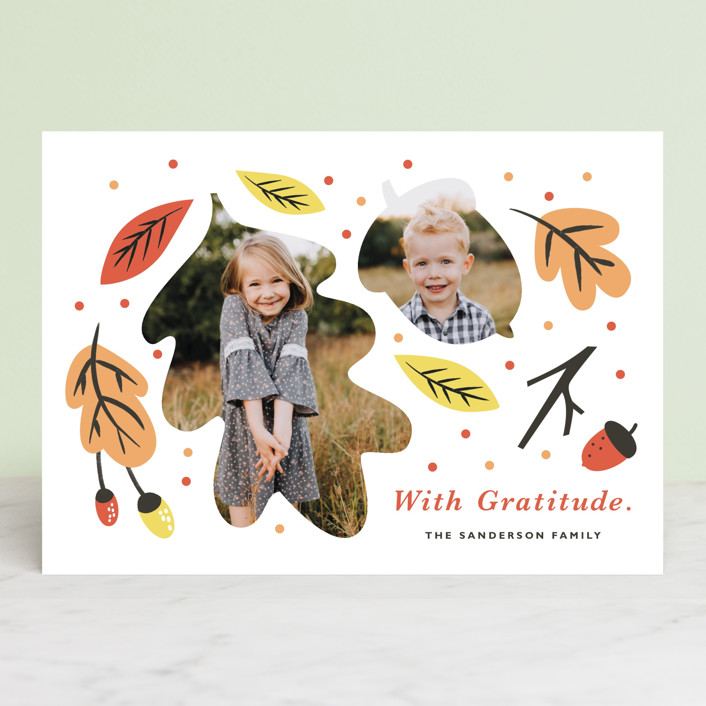 """Little Acorn"" - Thanksgiving Cards in Pumpkin Spice by Eve Schultz."
