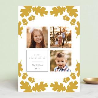 Acorn Frame Thanksgiving Cards