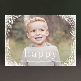 Lovely Wreath Thanksgiving Cards
