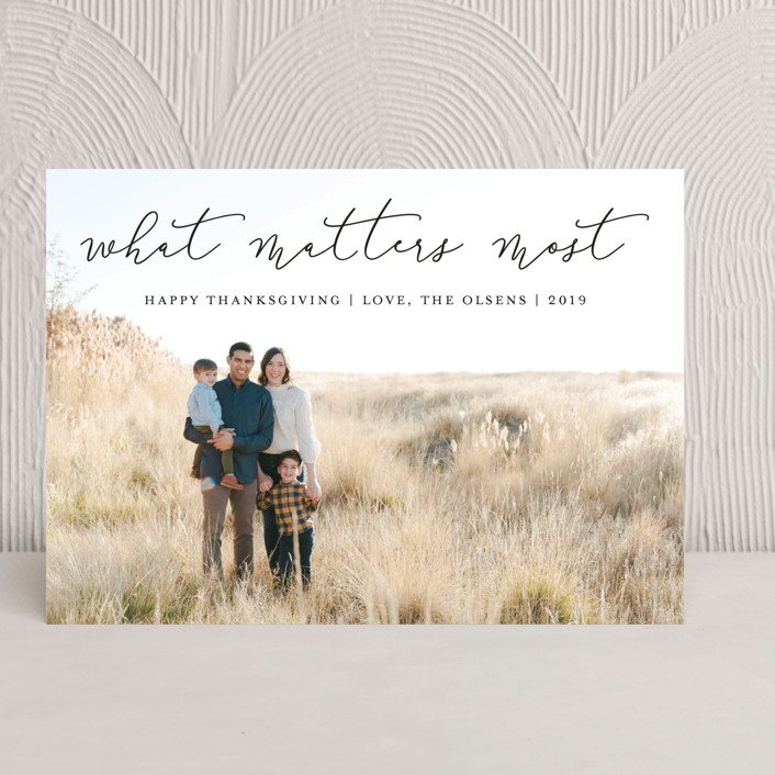 """""""What Matters Most"""" - Thanksgiving Cards in Noir by annie clark."""