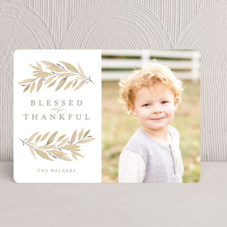 Simple Laurels Thanksgiving Cards