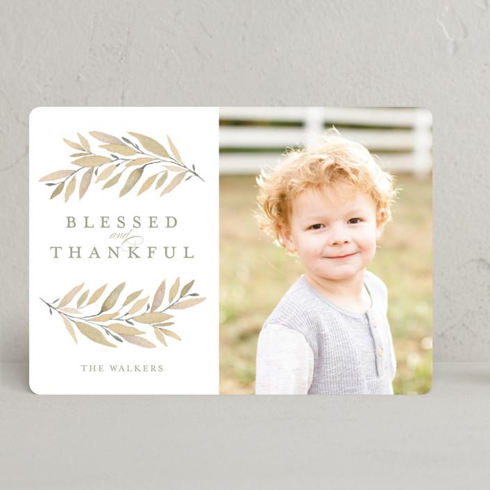"""""""Simple Laurels"""" - Thanksgiving Cards in Gingerbread by Grace Kreinbrink."""