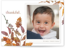 This is a brown thanksgiving cards invitation by Snow and Ivy called Merry Oak with standard printing on smooth signature in standard.