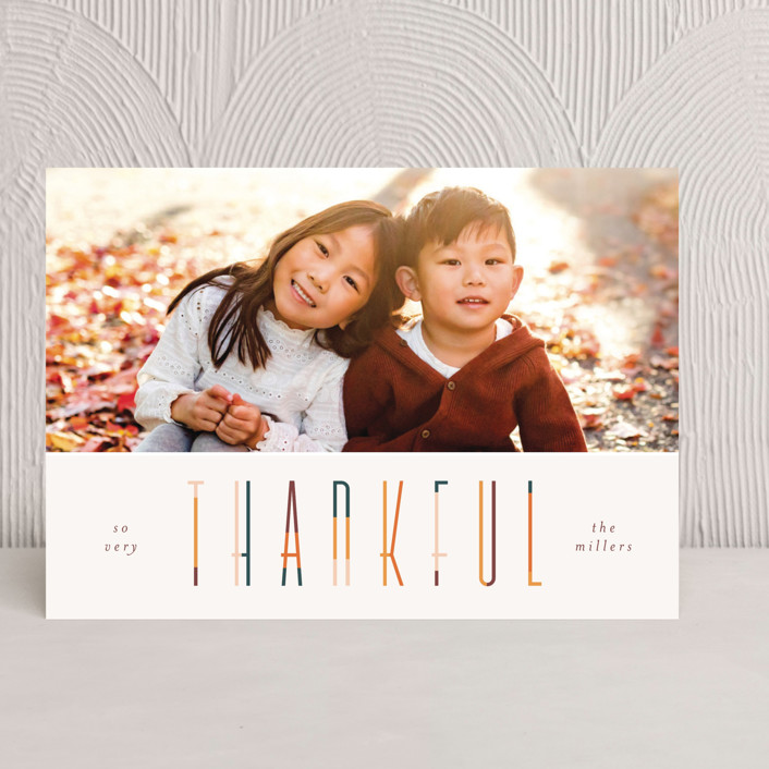 """colorful thankful"" - Thanksgiving Cards in Pumpkin by Pixel and Hank."