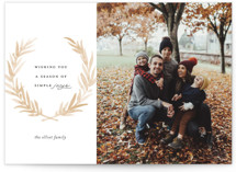 This is a brown thanksgiving cards invitation by Olivia Kanaley called Laurel with standard printing on smooth signature in standard.