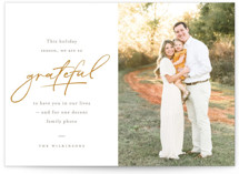 This is a orange thanksgiving cards invitation by Robert and Stella called So Grateful with standard printing on smooth signature in standard.