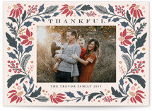 This is a green thanksgiving cards invitation by Kristen Smith called Rejoice in Florals with standard printing on smooth signature in standard.