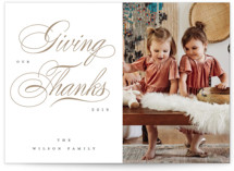 This is a brown thanksgiving cards invitation by Liz Conley called A Swirling New Year with standard printing on smooth signature in standard.
