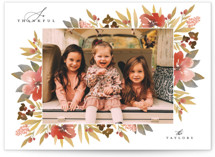 This is a orange thanksgiving cards invitation by Grace Kreinbrink called Classic Blooming Frame with standard printing on smooth signature in standard.