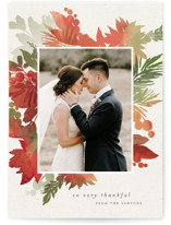 This is a orange thanksgiving cards invitation by Eric Clegg called Holiday Bouquet with standard printing on smooth signature in standard.