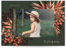 This is a green thanksgiving cards invitation by frau brandt called Magical Holiday with standard printing on smooth signature in standard.