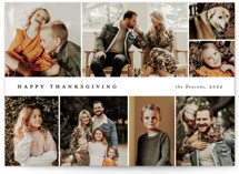 This is a white thanksgiving cards invitation by Stacey Meacham called Many memories with standard printing on smooth signature in standard.