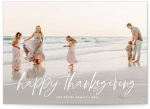This is a white thanksgiving cards invitation by Melanie Severin called Winter Breeze with standard printing on smooth signature in standard.