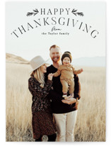 This is a black thanksgiving cards invitation by Alethea and Ruth called Simple Arch with standard printing on smooth signature in standard.