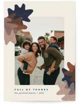 This is a brown thanksgiving cards invitation by Carrie Moradi called collage foliage with standard printing on recycled smooth signature in standard.