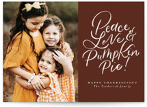 This is a brown thanksgiving cards invitation by Jackie Crawford called Hand letter Pumpkin Pie with standard printing on recycled smooth signature in standard.
