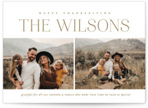 This is a brown thanksgiving cards invitation by Erin L. Wilson called Splits with standard printing on recycled smooth signature in standard.