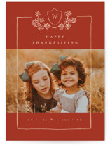 This is a orange thanksgiving cards invitation by Anastasia Makarova called Rustic Frame with standard printing on recycled smooth signature in standard.