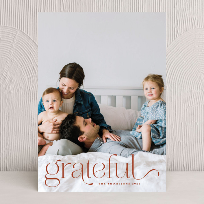 """""""We Are Grateful"""" - Thanksgiving Cards in Pearl by Kristel Torralba."""