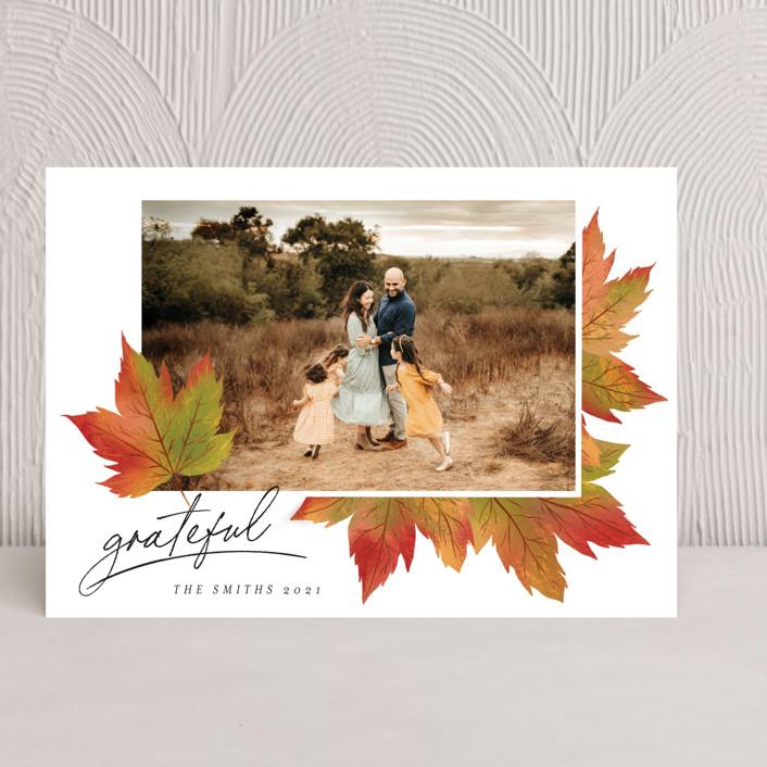 """""""Maple Lovers"""" - Thanksgiving Cards in Autumn by Grae."""
