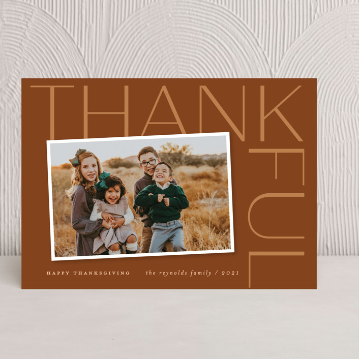 """""""Thankful Sentiment"""" - Thanksgiving Cards in Nutmeg by Sandra Picco Design."""