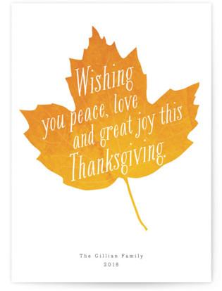 Autumn Leaf Thanksgiving Postcards