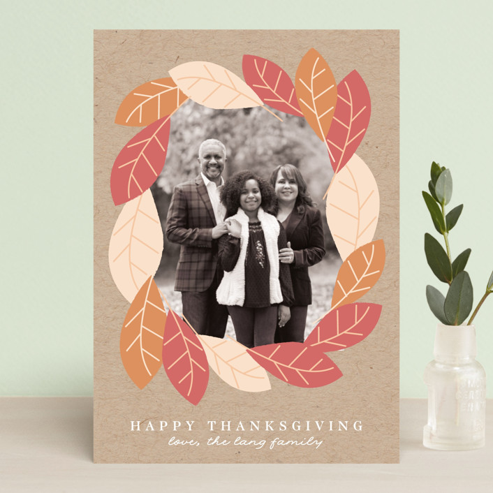 """Fall Forest Frame"" - Thanksgiving Postcards in Kraft by Angela Thompson."