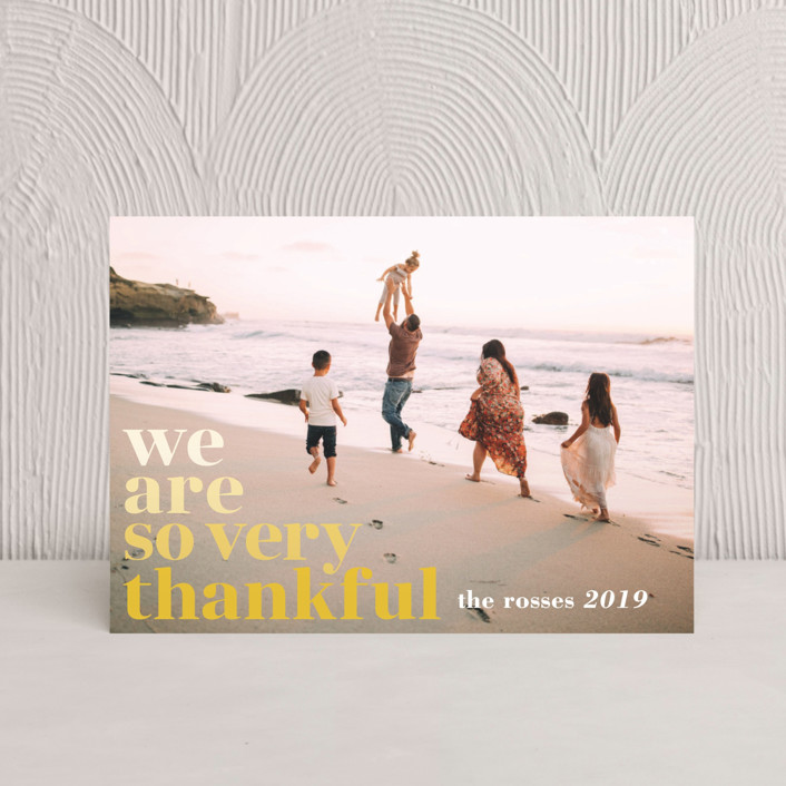"""Simple Thanks"" - Thanksgiving Postcards in Flaxen by Jody Wody."