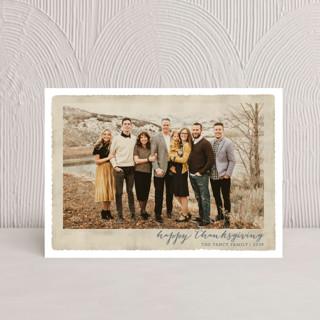 Deckled Merrier than Ever Thanksgiving Postcards