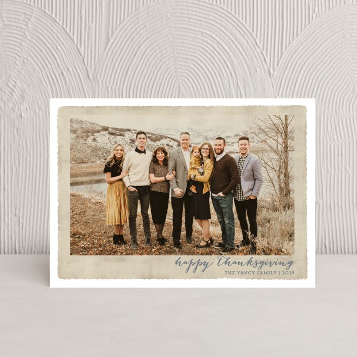 """""""Deckled Merrier than Ever"""" - Thanksgiving Postcards in Parchment by Kaydi Bishop."""