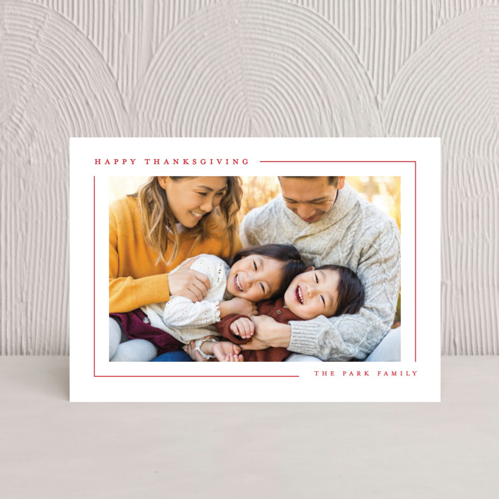 """""""Simply Serene"""" - Thanksgiving Postcards in Cardinal by Lauren Chism."""