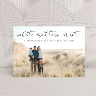 What Matters Most Thanksgiving Postcards