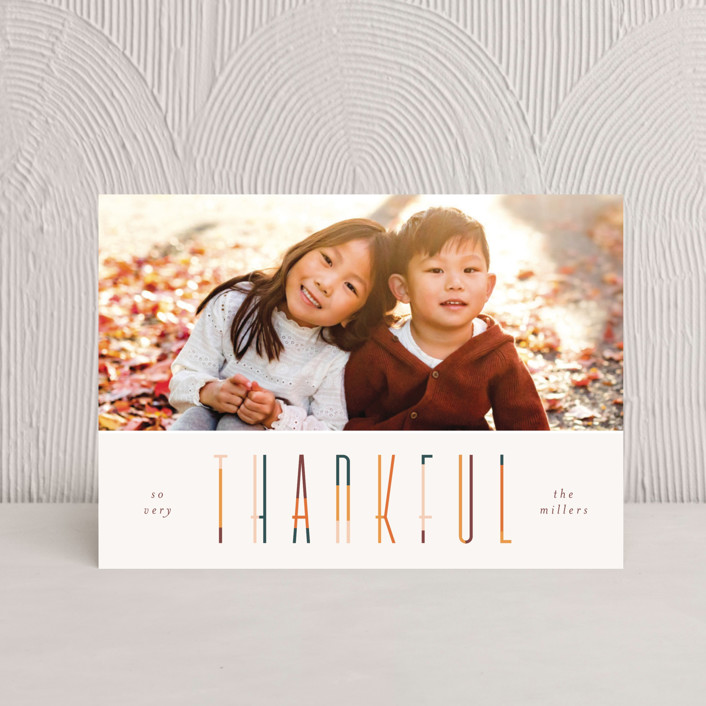 """colorful thankful"" - Thanksgiving Postcards in Pumpkin by Pixel and Hank."