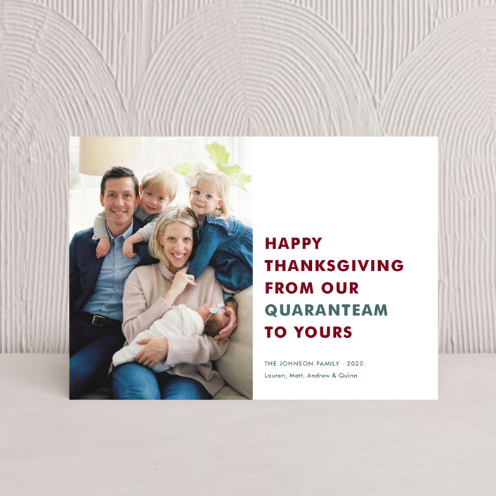"""""""The Quaranteam"""" - Thanksgiving Postcards in Stocking by Toast & Laurel."""
