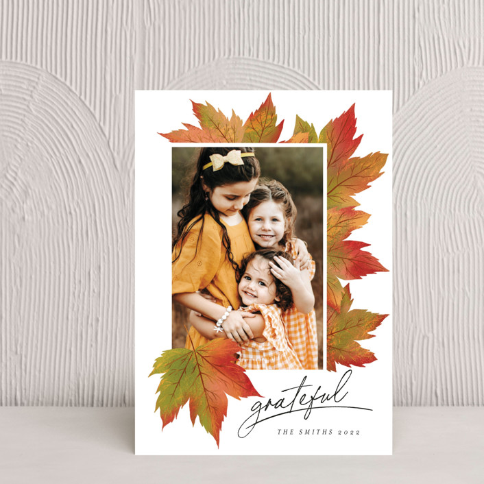"""""""Maple Lovers"""" - Thanksgiving Postcards in Autumn by Grae."""