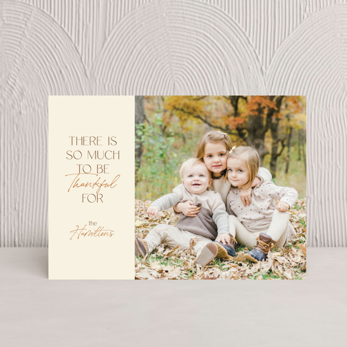 """""""Acorn"""" - Thanksgiving Postcards in Cream by Ashlee Townsend."""